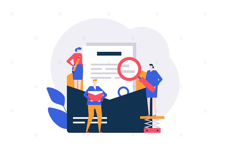 Email marketing - flat design style illustration
