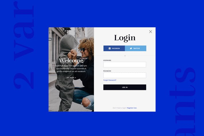 Login & Registration Forms