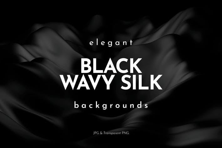 Thumbnail for Elegant Black Wavy Silk Backgrounds