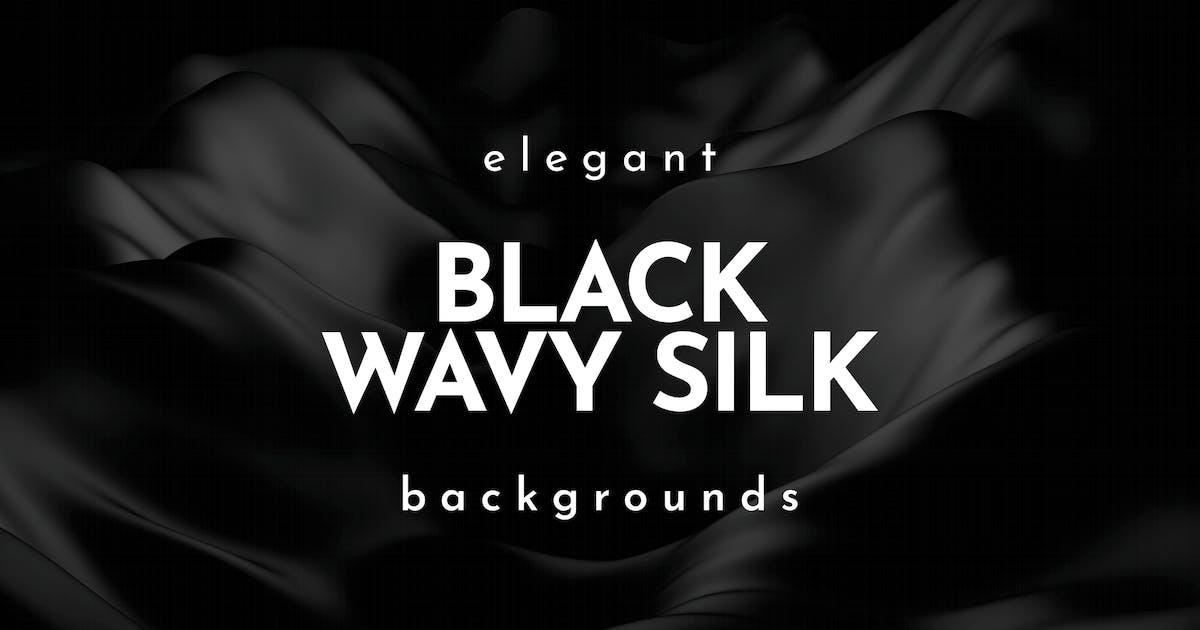 Download Elegant Black Wavy Silk Backgrounds by themefire
