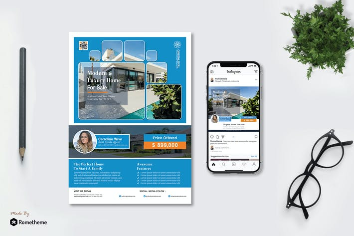 Thumbnail for GreenLoyal - Real Estate Flyer and Instagram HR