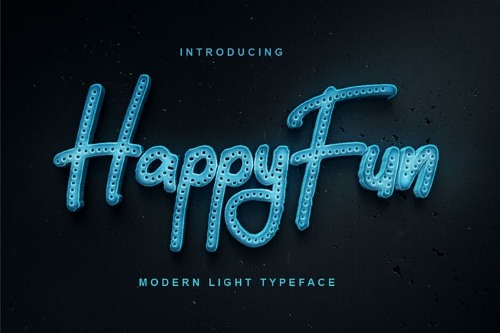 HappyFun | Modern Light Tipo de letra