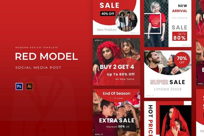 Thumbnail for Post Instagram modèle rouge