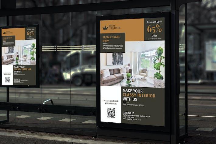 Thumbnail for Королевская мебель - Продвижение продукта плакат RB