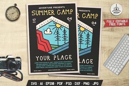 Summer Camp Flyer Template Camp Challenge