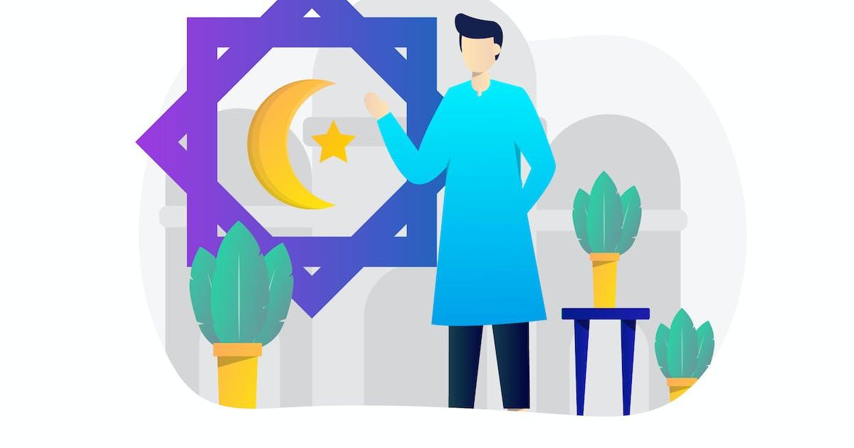 Download Eid Mubarak Concept Flat Design by StringLabs