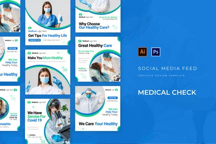 Medical Check Social Media Post