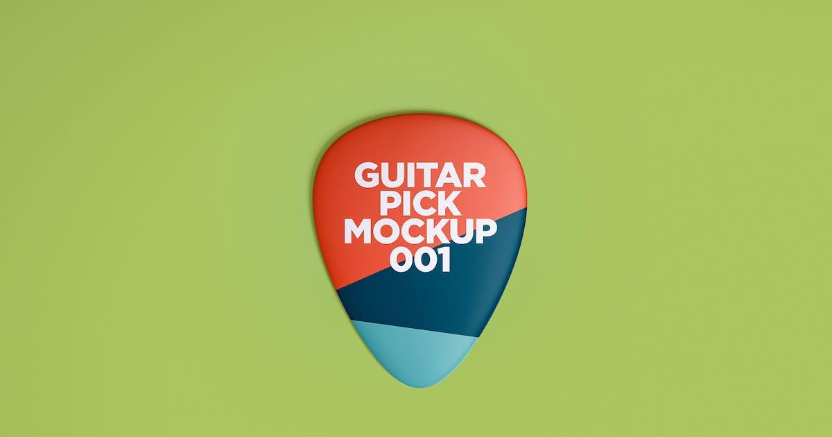 Guitar Pick Mockup 001 by traint