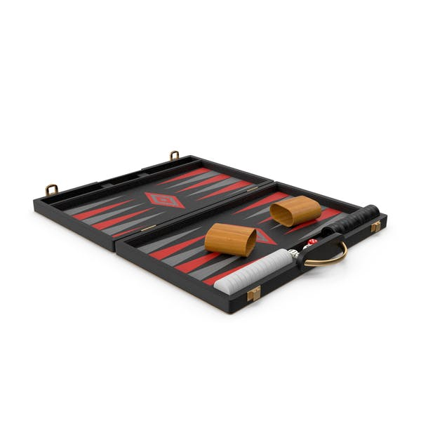 Black Backgammon Board Game Set