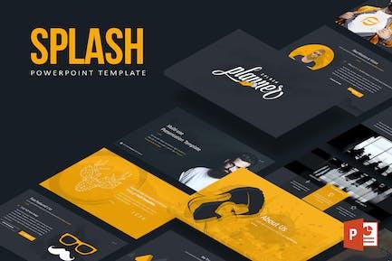 Splash Powerpoint-Vorlage