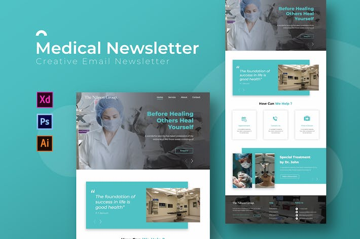 Cover Image For Medical | Newsletter  Template