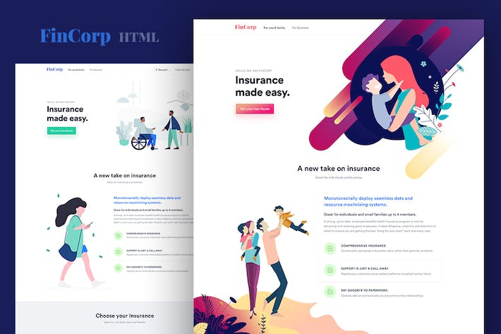 Thumbnail for FinCorp - Finance, Insurance & Marketing Template