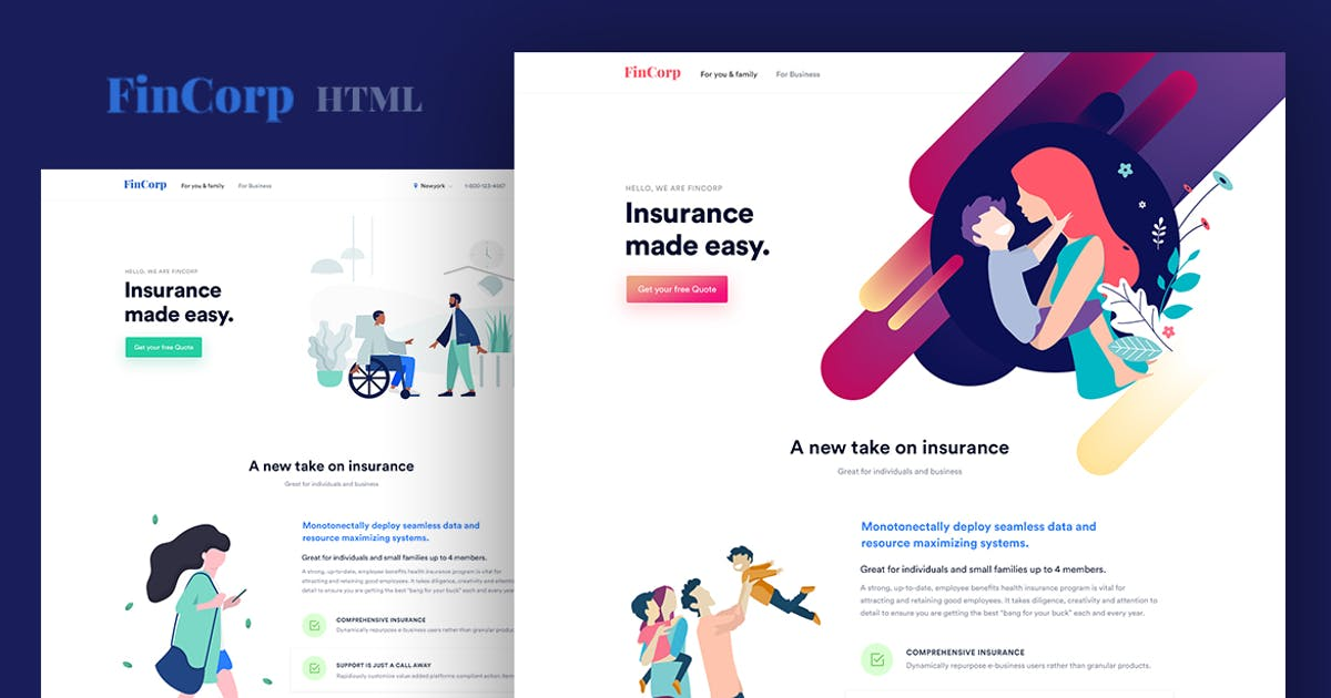 Download FinCorp - Finance, Insurance & Marketing Template by surjithctly