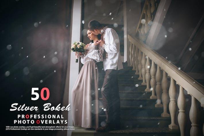 50 Серебряные фотоНаложения Bokeh