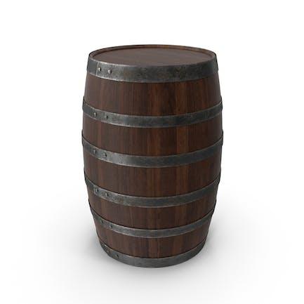 Деревянная бочка грецкого ореха