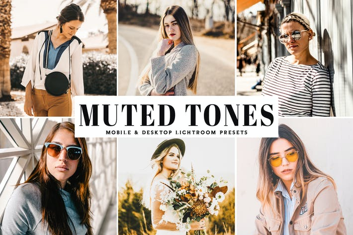 Thumbnail for Muted Tones Mobile & Desktop Lightroom Presets