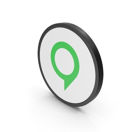 Значок карты зеленый