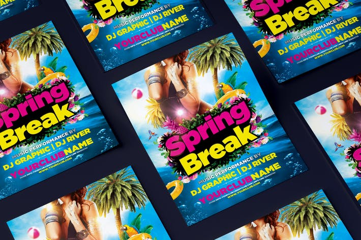 Thumbnail for Spring Break Party Flyer