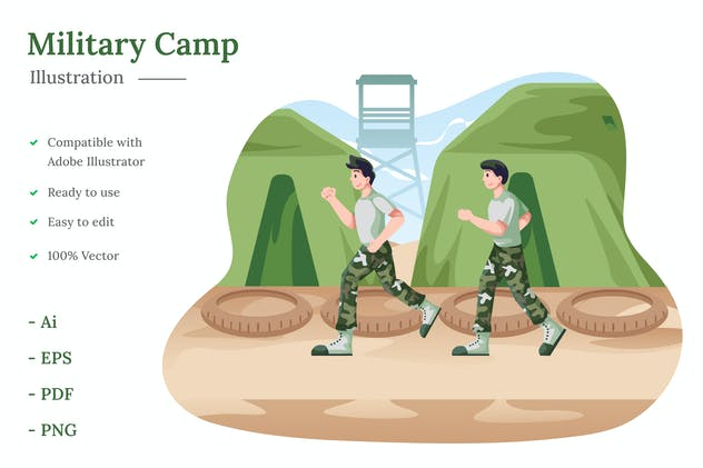 Military Camp Illustration