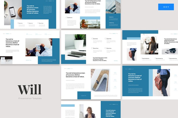 Thumbnail for Will - Insurance Protection Keynote Template