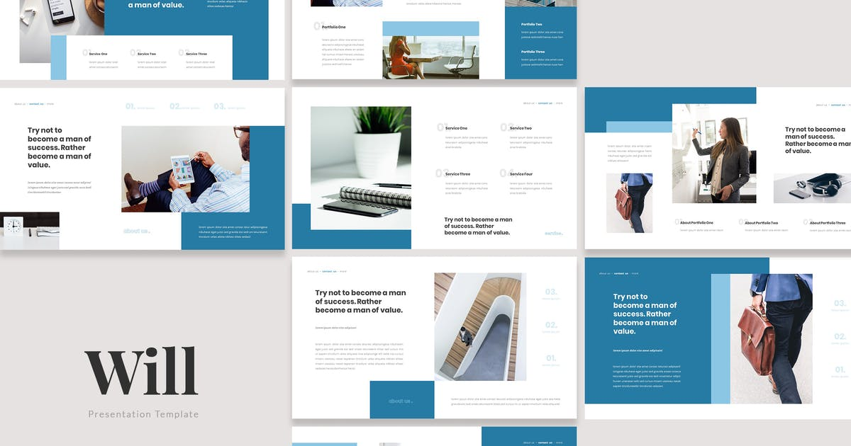 Download Will - Insurance Protection Keynote Template by naulicrea