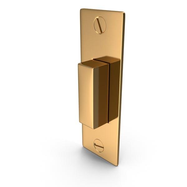 Дверной замок Защелка Золотой с винтом