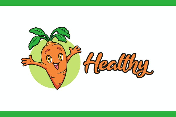 Thumbnail for Happy Little Carrot Mascot Logo