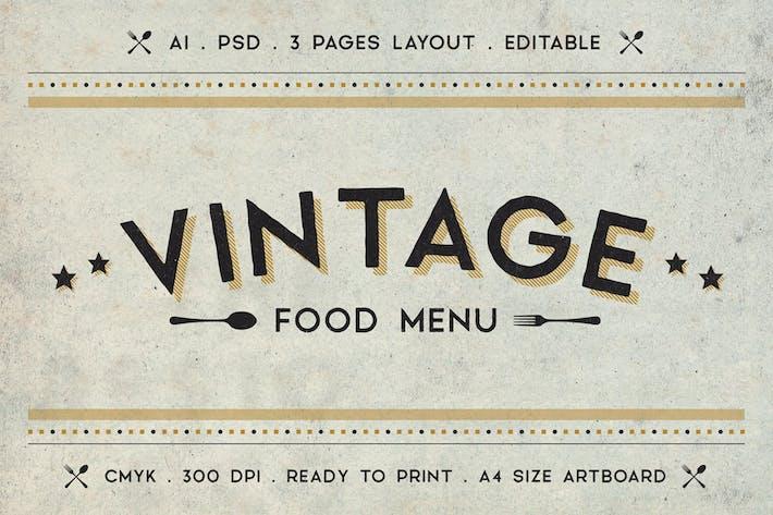 Thumbnail for Vintage Food Menu