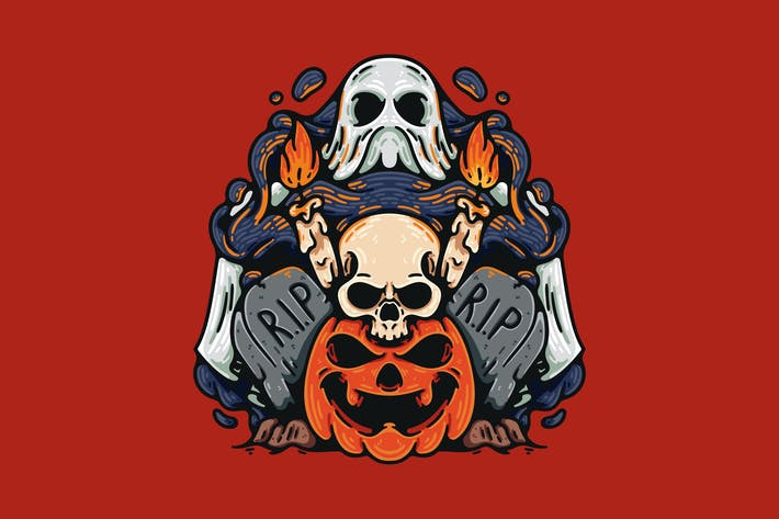Thumbnail for Halloween Pumpkin And Skull