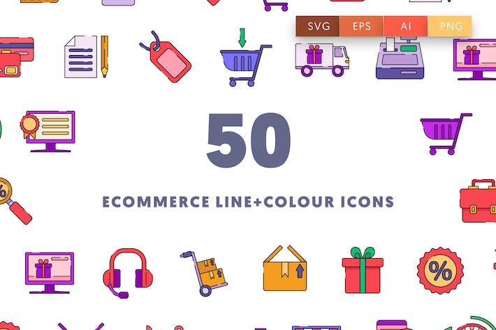Thumbnail for E-Commerce-Linie und FarbIcons