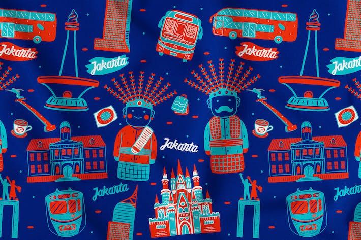 Thumbnail for Jakarta Seamless Pattern