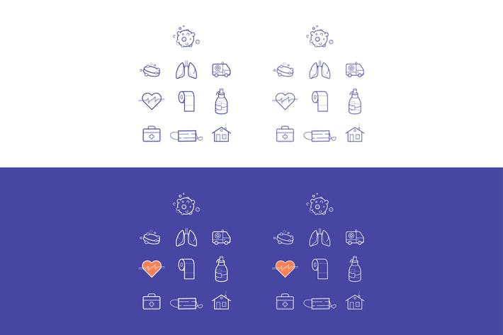 Thumbnail for Corona virus Covid-19 Icons Vector