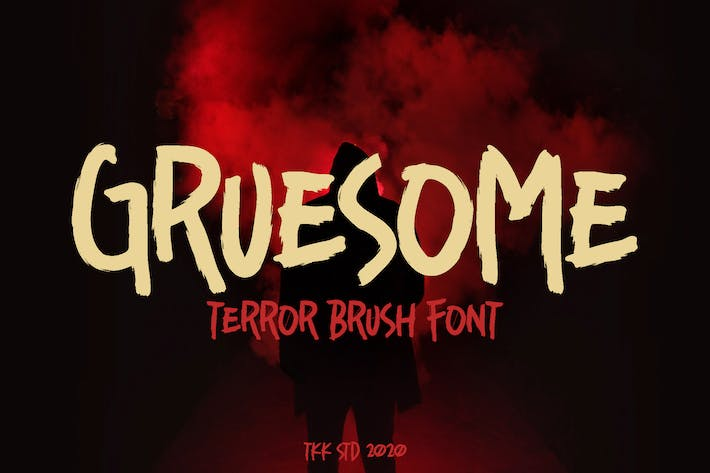 Thumbnail for Gruesome - Horror Scary FOnt