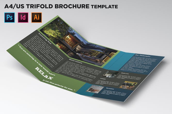 Thumbnail for Hotel Trifold Brochure Template