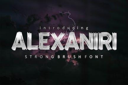 AN Alexaniri - Strong Brush Font