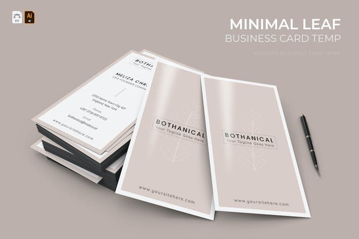 Thumbnail for Minimal Leaf | Business Card