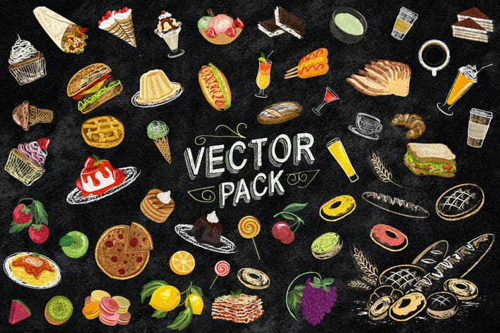 Cover Image For 54 Dessert Vector Pack