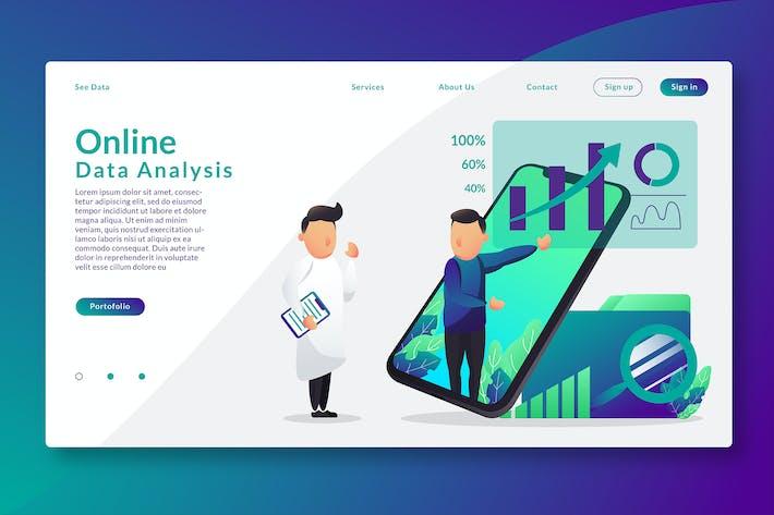 Thumbnail for Online Data Analysis - Web Header & Vector GR