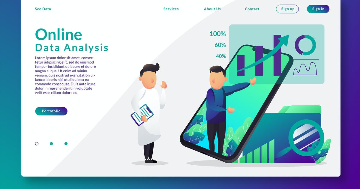 Download Online Data Analysis - Web Header & Vector GR by Rometheme