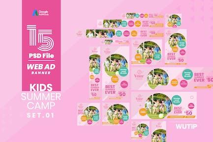 Web Ad Banner-Kids Summer Camp 01