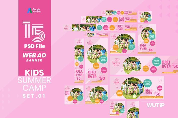 Thumbnail for Web Ad Banner-Kids Summer Camp 01