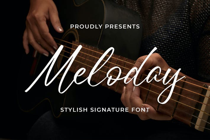 Thumbnail for Meloday - Stylish Signature Font