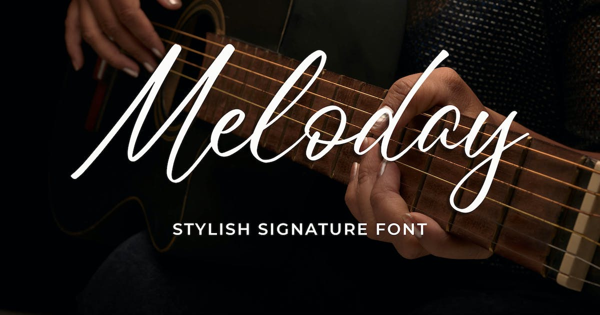 Download Meloday - Stylish Signature Font by Blankids