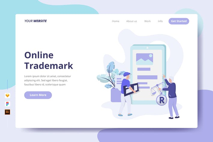 Thumbnail for Online Trademark - Landing Page