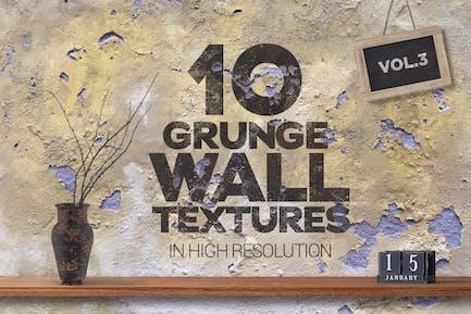 Grunge Wall Textures x10 vol3
