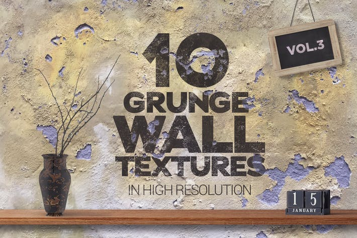 Thumbnail for Grunge Wall Textures x10 vol3