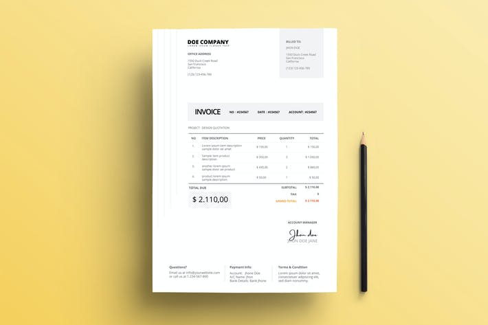 Cover Image For Invoice Business with Soft Grey Accents