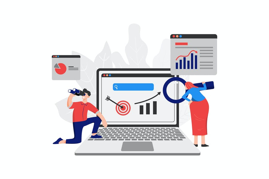 Business marketing Illustration concept