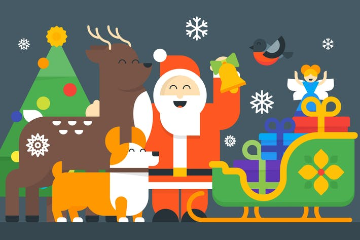Thumbnail for Christmas & New Year Illustrations