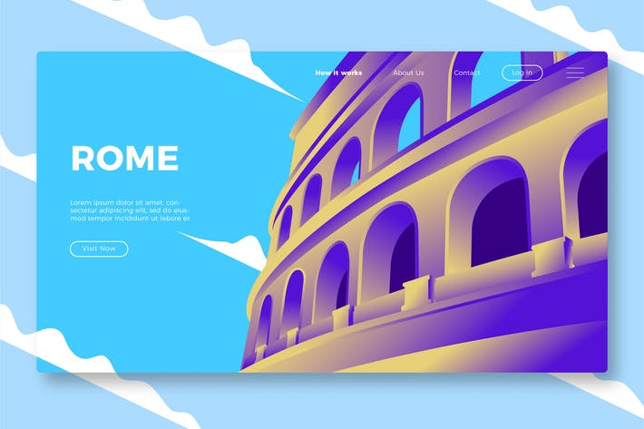 Thumbnail for Rome - Banner & Landing Page